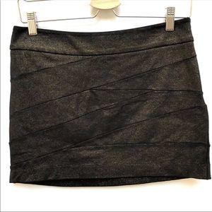 EXPRESS Copper Shimmer Skirt